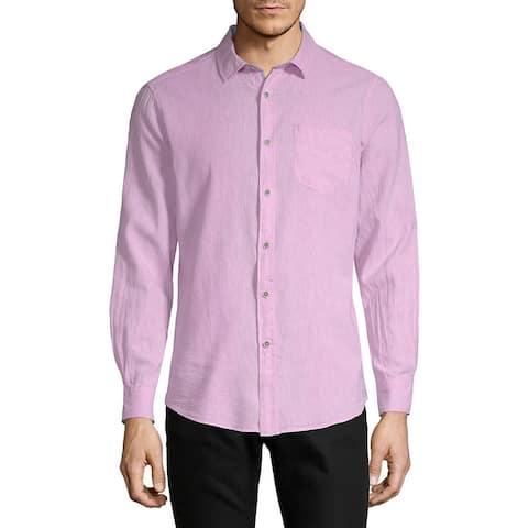 Report Linen-Blend Woven Shirt