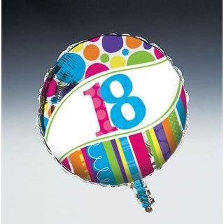 "Pack of 10 Mult-Colored Bright and Bold ""18"" Metallic Foil Party Balloons"