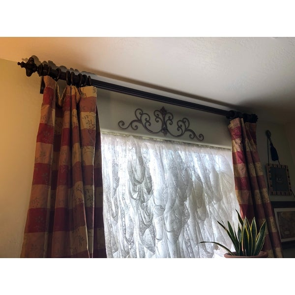 Top Product Reviews For Istanbul English Walnut Wood Curtain Rod Set