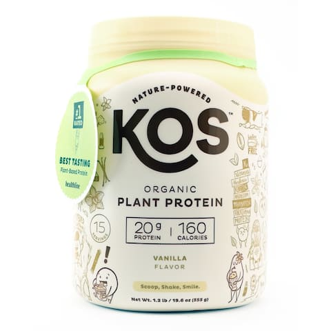 KOS - Organic Plant Protein Powder 15 Servings Vanilla - 1.2 lb.