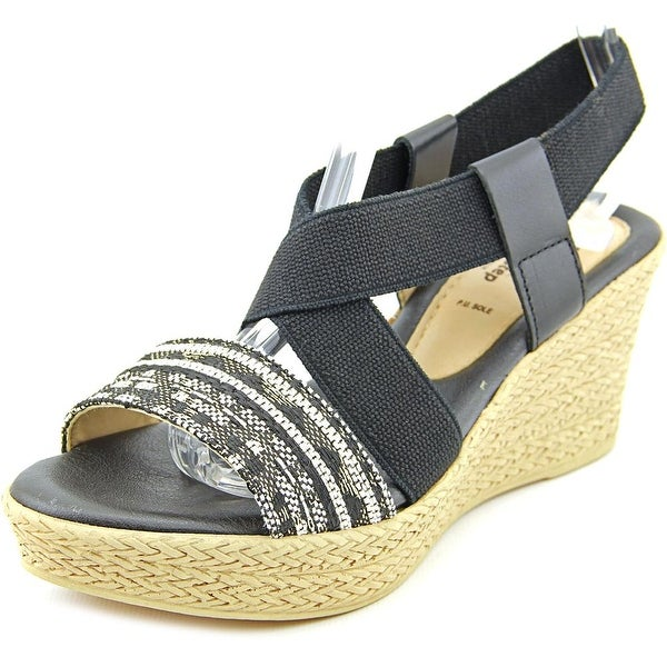 Spring Step Beach Open Toe Canvas Wedge Sandal