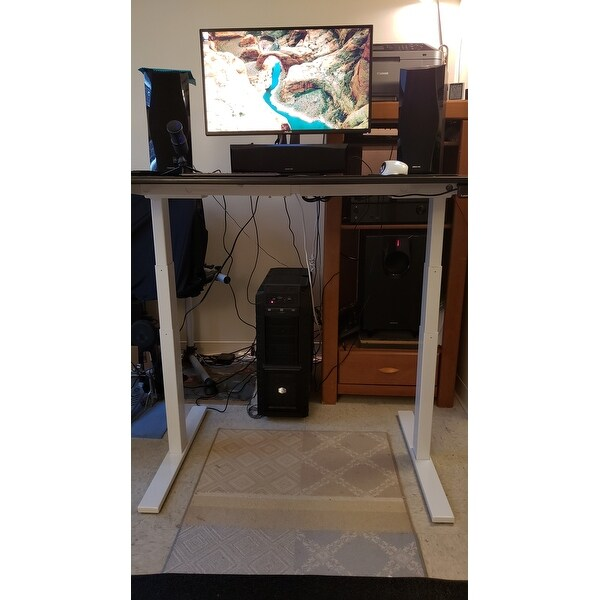 Shop Autonomous SmartDesk   Height Adjustable Standing Desk   Dual Motor    DIY Frame (Table Top Not Included)   Free Shipping Today   Overstock.com    ...