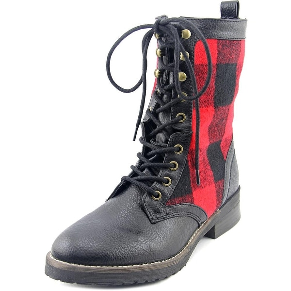 Madden Girl Miles Round Toe Synthetic Mid Calf Boot