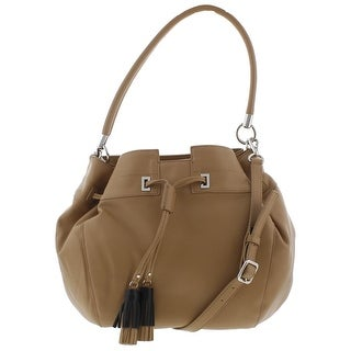 Nine West Womens Take A Lift Bucket Handbag Faux Leather Convertible - LARGE