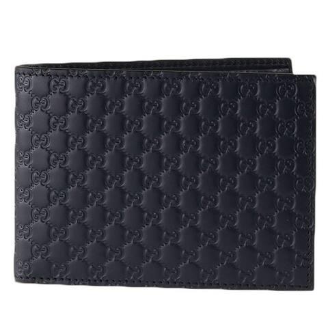 Gucci Men's Black Microguccissima GG Logo Leather Bifold Wallet 292534 - M