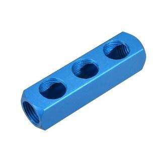 "1/2""G Thread Pneumatic 6Port 3Way Air Hose Inline Manifold Block Splitter 5Pcs - 6Ports 3 Ways 1/2"" G 5pcs"