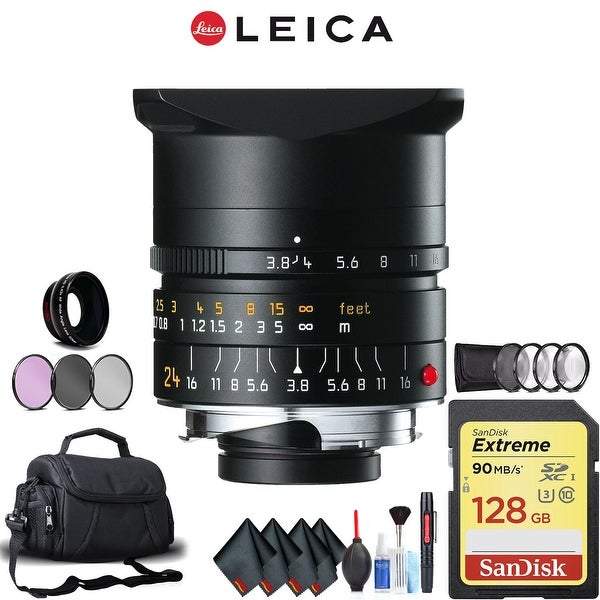 Leica 24mm f/3.8 Lens (11648) Complete Accessory Kit (Mac)