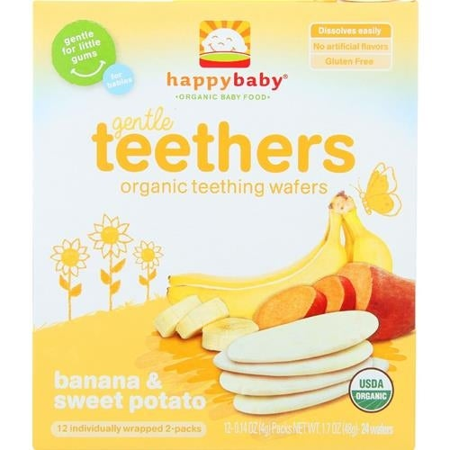Happy Family - Banana & Sweet Potato Organic Teethers ( 6 - 1.7 OZ)