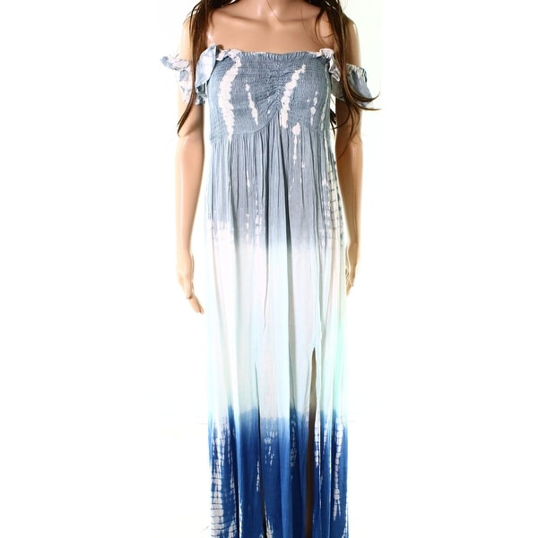 f94c776df47 Shop Raviya Blue Women's Size Medium M Ombre Tie Dye Smocked Maxi Dress -  Free Shipping On Orders Over $45 - Overstock - 27048067