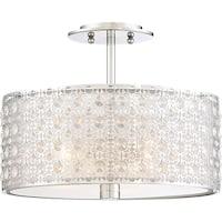 "Platinum PCVY1714 Verity 3-Light 15"" Wide Semi Flush Ceiling Fixture - Polished chrome"