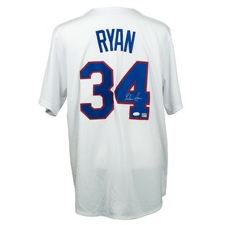 Nolan Ryan Signed Majestic Texas Rangers Cooperstown Collection Jersey JSA