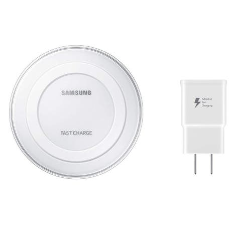 Samsung Fast Charge Qi Wireless Charging Pad for Qi Enabled Devices - White - US Version