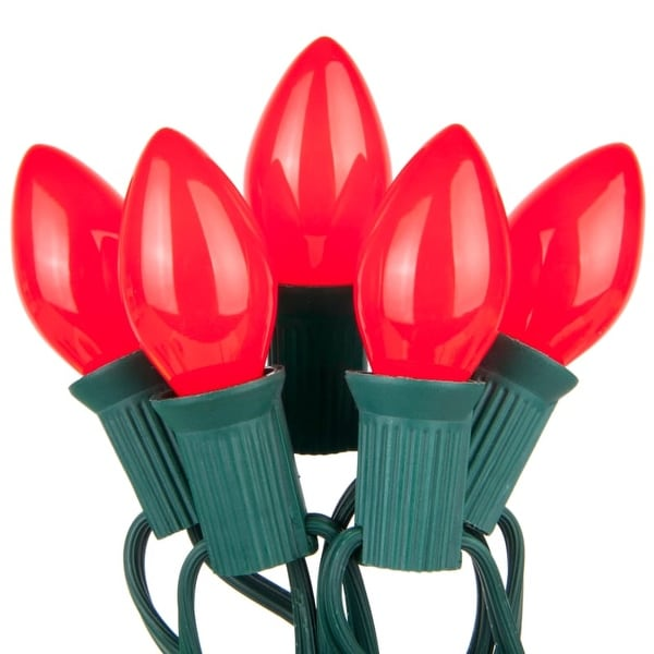 Wintergreen Lighting 67235 25 C7 5W Holiday Bulbs on Green Wire