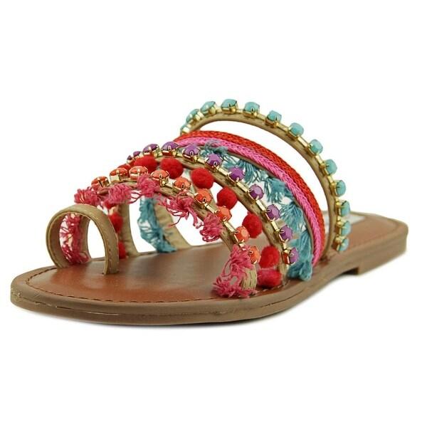 Steve Madden Gypsy Women Open Toe Synthetic Multi Color Thong Sandal