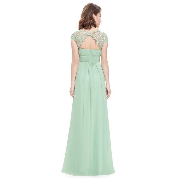 Ever-Pretty Dark Green Cap Sleeves Lace Evening Bridesmaid Dresses Long 09993