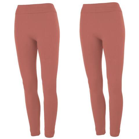 True Rock Women's Fleece Lined Leggings 2-Pack - One Size