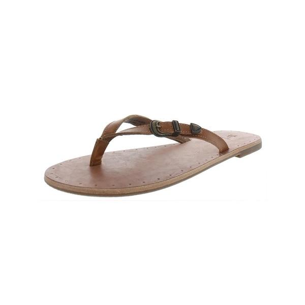 97da4b5dd Shop Frye Womens Ally Western Flip Flop Strap Sandals Patent Slip On ...