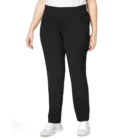 Columbia Women's Plus Size Anytime Casual Pull-On Pants (Black 3X)
