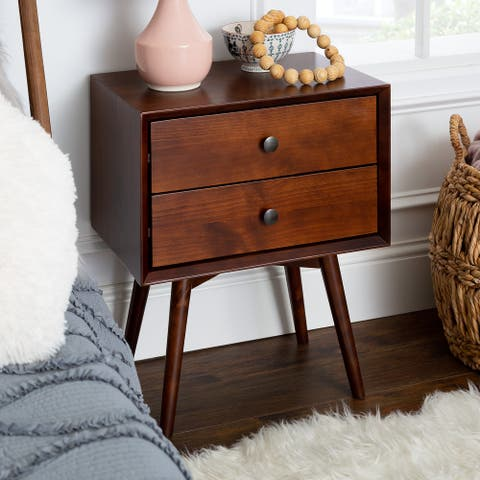 Carson Carrington 20-inch Mid-century 2-drawer Nightstand