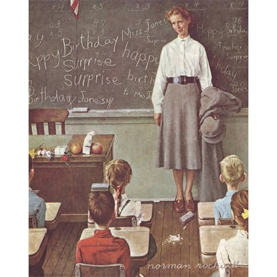 39 39 Happy Birthday Miss Jones 39 39 By Norman Rockwell