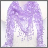 Leila  Sheer Shimmery Scarf In 13  Colors