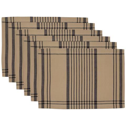 """DII Butcher's Block Plaid Placemat Set, 13x19"""", 6 Piece"""