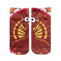 Unisex Turkey Ankle Socks - Brown