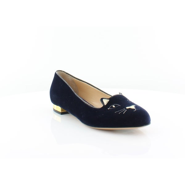 Charlotte Olympia Kitty Women's Heels Navy/Gold - 9