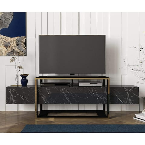 Bianco TV Stand Black Marble