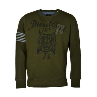 Diesel Spendis Wildcat Sweatshirt Large L Dark Forest Green Crewneck Pullover