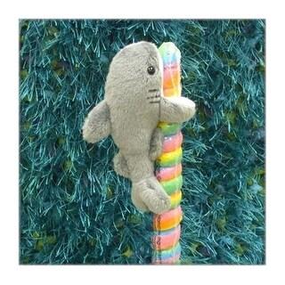 "Wishpets Child Shark Plush Toy 6"" Gray"