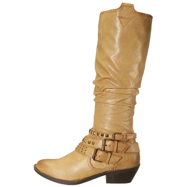 Report Womens Kathye Almond Toe Mid-Calf Cowboy Boots - 8