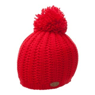 Thick Acrylic Knitted Beanie w/ Pom|https://ak1.ostkcdn.com/images/products/is/images/direct/7ed203038052715c88ca49a3745d1ebe17492023/Thick-Acrylic-Knitted-Beanie-w--Pom.jpg?impolicy=medium