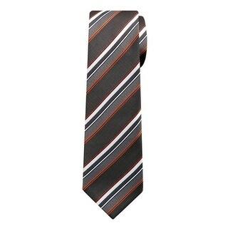 Marquis Men's Gray And White Stripes 3 1/4 Tie & Hanky Set TH100-032