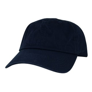 CapRobot Slouch Unstructured Adjustable Hat Strapback Dad Cap - Navy Blue - Dark blue