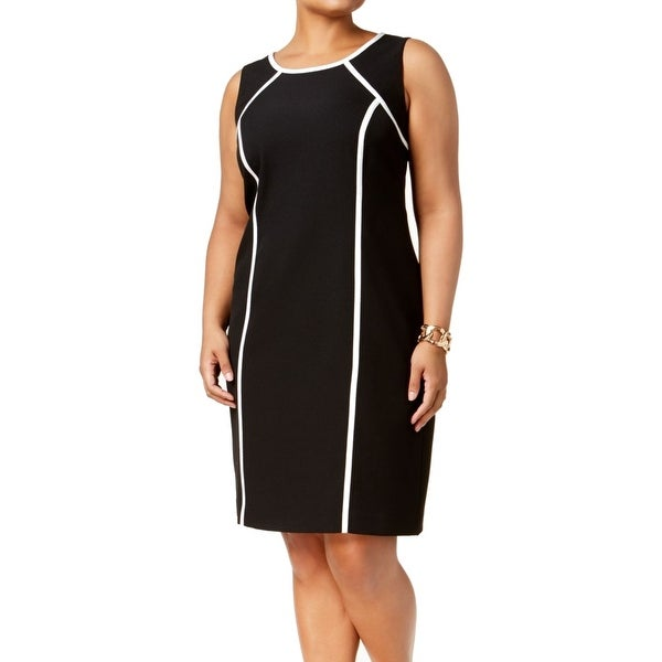 b47aff79775 Shop Kasper Black Women s Size 18W Plus Stretch Crepe Sheath Dress - Free  Shipping Today - Overstock.com - 27287745