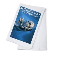 Morro Bay, CA - Sea Otter - LP Artwork (100% Cotton Towel Absorbent)