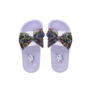 Slip On Sandals Jojo Siwa Purple Unicorn Youth Size 1-13