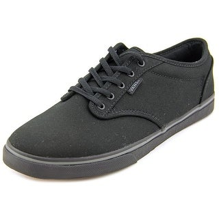 Vans Atwood Low Women W Round Toe Canvas Black Skate Shoe