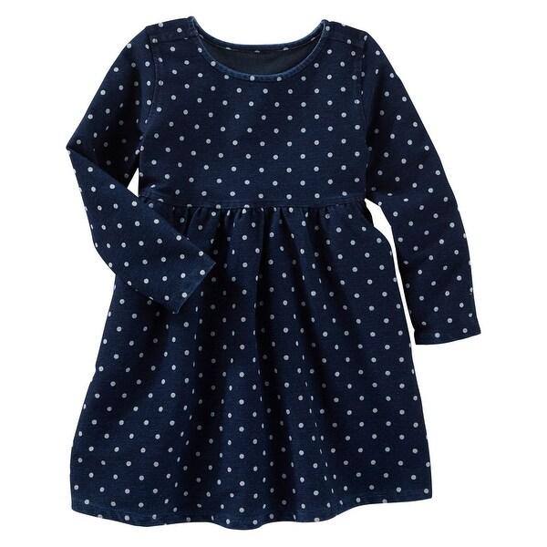 64e5246a5bbc Shop OshKosh B'gosh Baby Girls' 2 Piece Polka Dot Knit Like Dress, 9 Months  - Free Shipping On Orders Over $45 - Overstock - 17629749