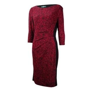Lauren Ralph Lauren Women's Crosshatch Jersey Sheath Dress