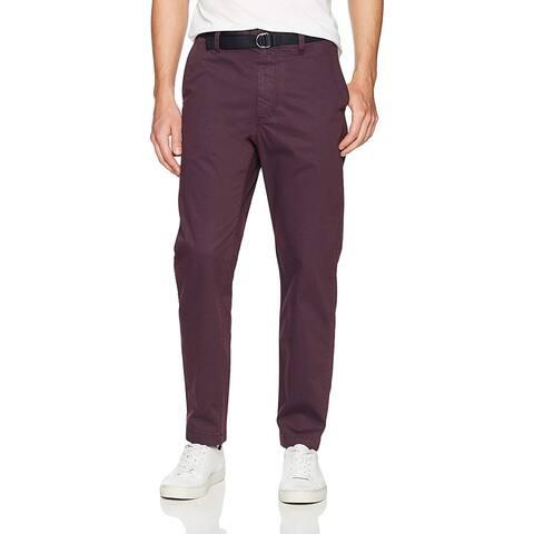 Perry Ellis Men's Pigment Dyed Cargo Pant, Cordovan,, Cordovan, Size 32W x 32L - 32W x 32L
