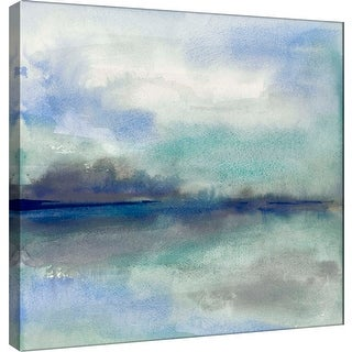 "PTM Images 9-100964  PTM Canvas Collection 12"" x 12"" - ""Feeling Teal I"" Giclee Abstract Art Print on Canvas"