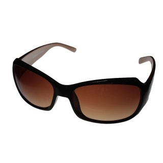 Ellen Tracy Sunglass Rectangle Plastic 511 3 Brown Cream Brown Gradient Lens - Medium