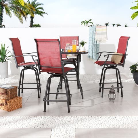 5-Piece Outdoor High-Seating Dining Set