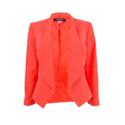 Nine West Women's Plus Size Draped Blazer