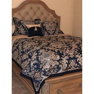 Croscill Imperial Chenille Jacquard Woven Damask 4-piece Comforter Set