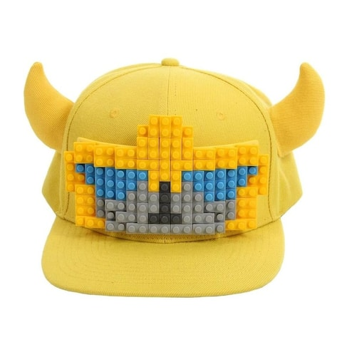 Transformers Bumblebee Bricky Blocks Build On Snapback Hat - Yellow