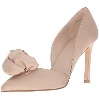 Pelle Moda Womens Dorsey D'Orsay Heels Silk Pointed Toe