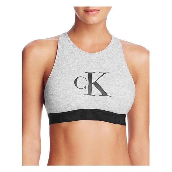 d598bee91964f Shop Calvin Klein Womens Bralette High Neck Logo - Free Shipping On ...